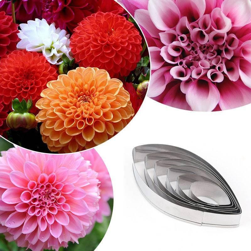 Emporte-pièces fleur dahlia - 6 tailles