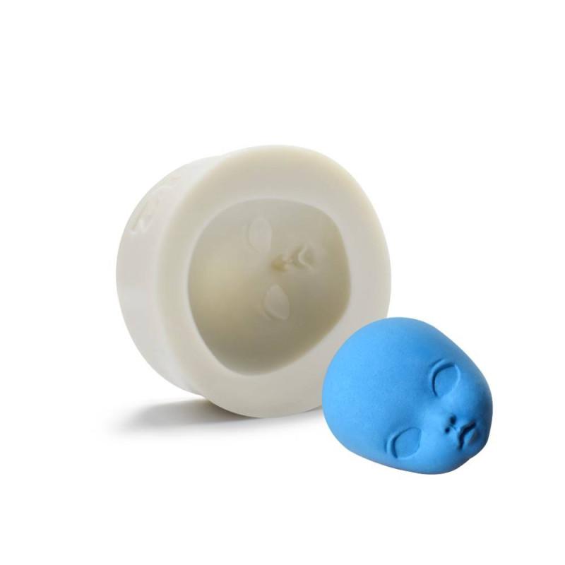 Moule tête de bébé en 3D de 4cm en silicone