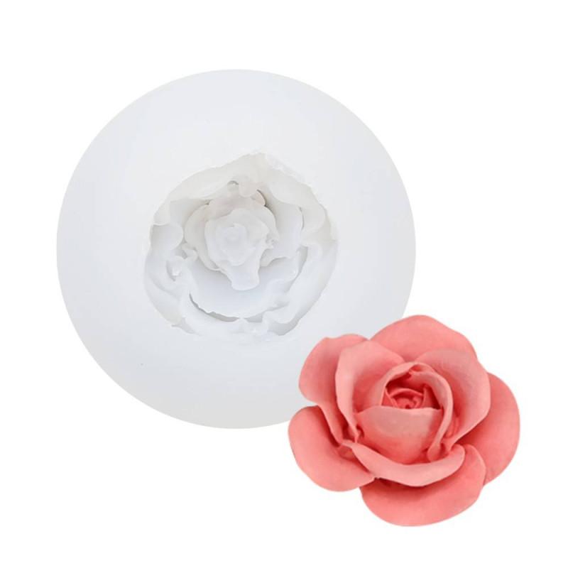 Moule en silicone d'une rose en 3D - 7,5cm