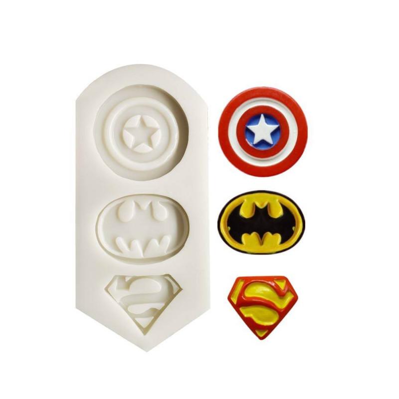 Moule super héros Batman Superman et Captain America
