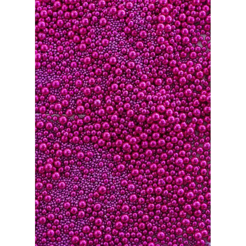 Perles rose fushia en sucre de Sweetapolita 100 g