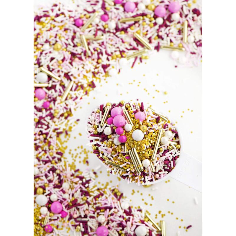 Sprinkles mix Dream gold,white,pink Sweetapolita 100g