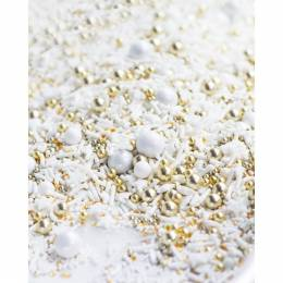 Sprinkles mix hiver blanc, or, argent Sweetapolita 100g