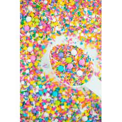 Sprinkles mezcla blanco de invierno, oro, plata Sweetapolita 100g