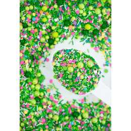 Sprinkles mix printemps vert et rose Sweetapolita 85g
