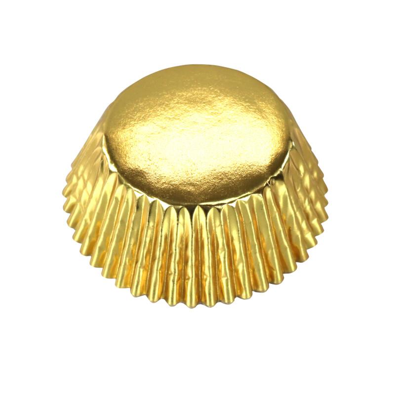 30 caissettes à cupcake OR doré