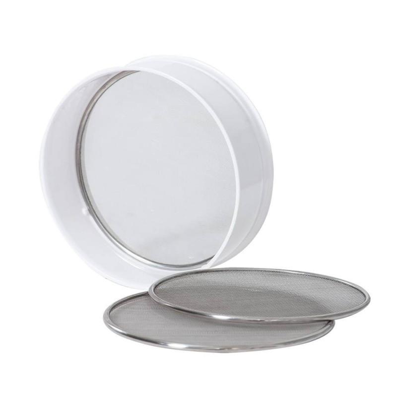 Tamis en plastique et 3 mailles en acier inox 20 x 7 cm