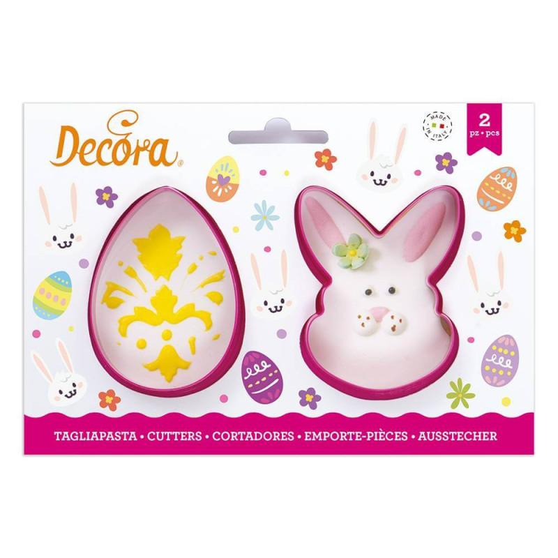 2 cortadores de cara de huevo y conejo