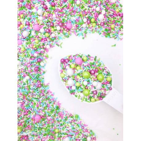 Sprinkles mix Garden green,white,pink, Sweetapolita 100g