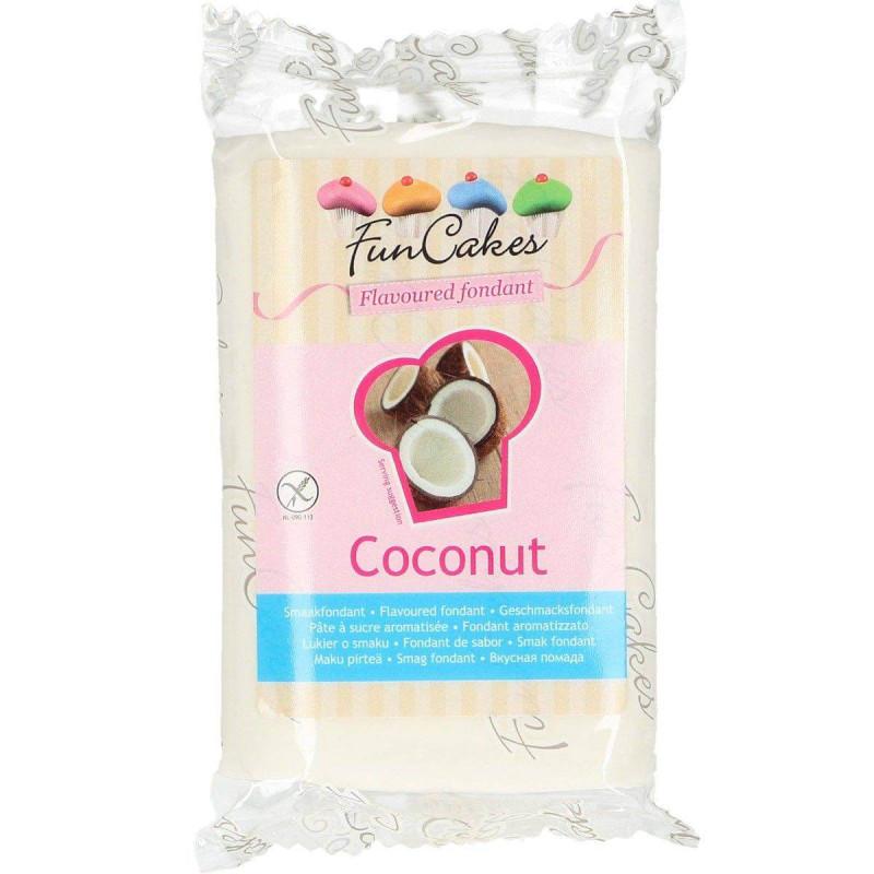 Pâte à sucre Funcakes blanc aromatisé noix de coco 250g