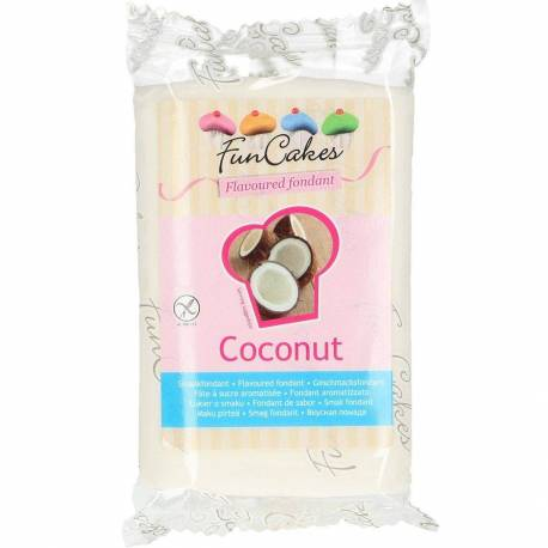 Sugar dough Funcakes white coconut flavoured 250g