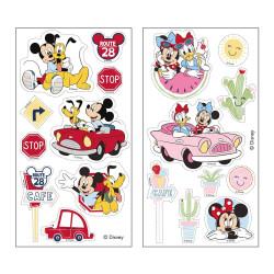 18 décorations Mickey et Minnie sur feuilles comestibles
