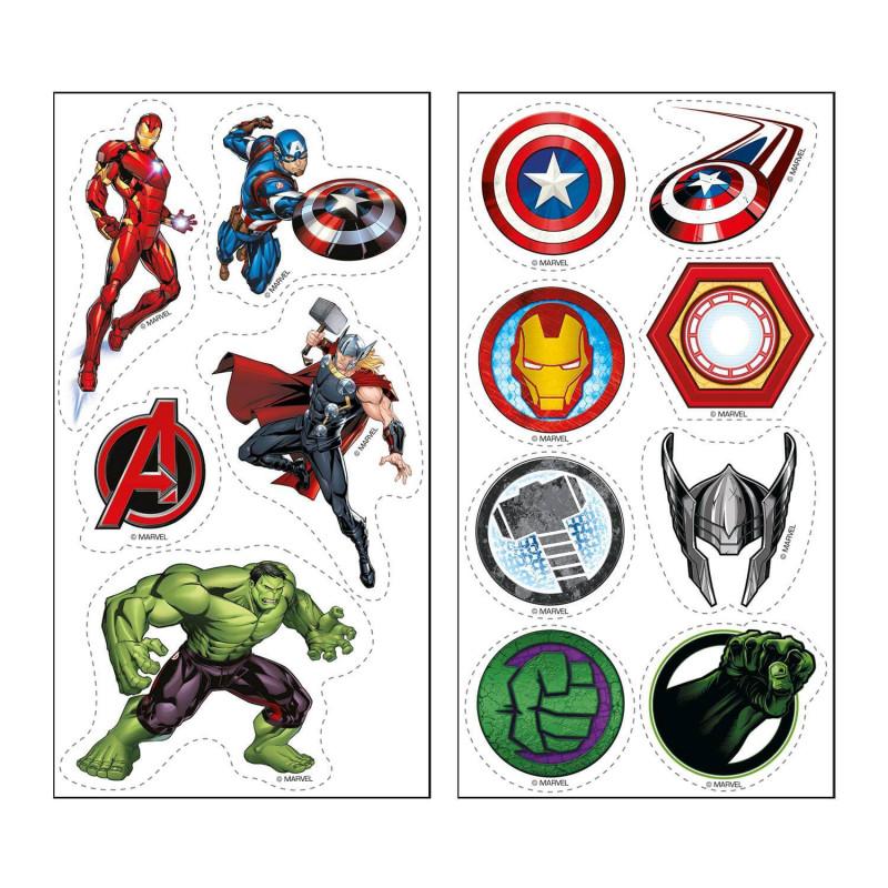 13 décorations Avengers sur feuilles comestibles