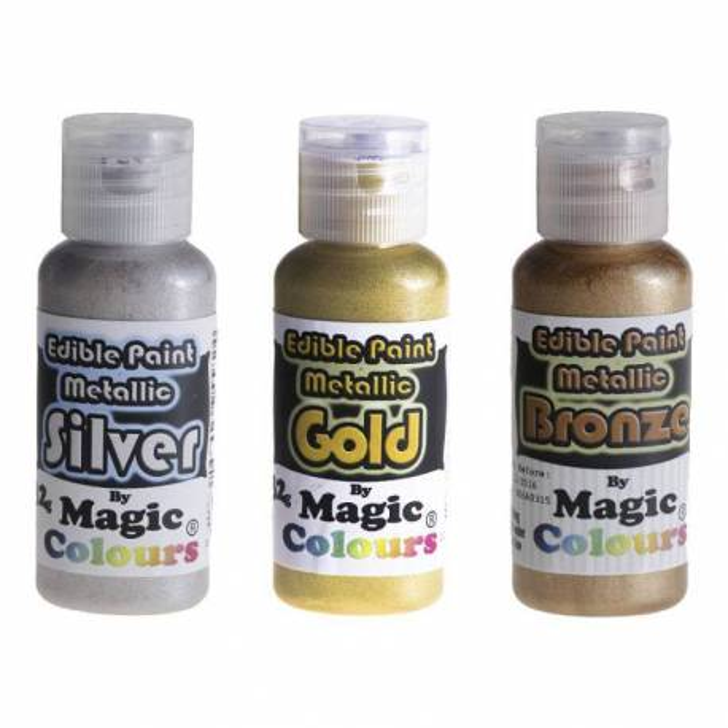 Metallic food paint Magic colours