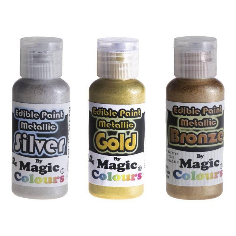 Pintura metálica para alimentos Magic colours