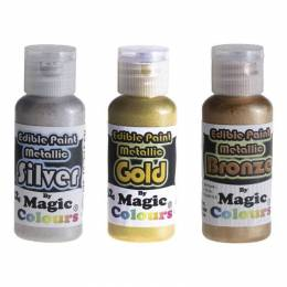 Peinture alimentaire métallique Magic colours