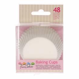 48 caissettes à cupcakes blanches Funcakes