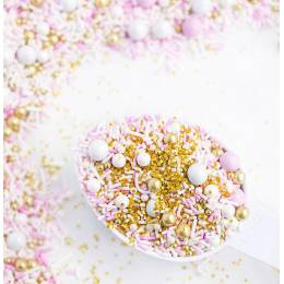 Sprinkles mix ice blue, white gold and silver Sweetapolita 100g