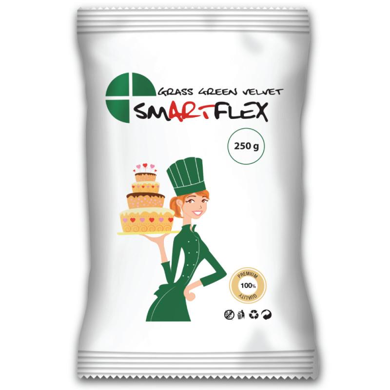Pasta de azúcar SMARTFLEX vainilla verde hierba 250 g