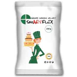 Sugar paste SMARTFLEX vanilla green grass 250 g