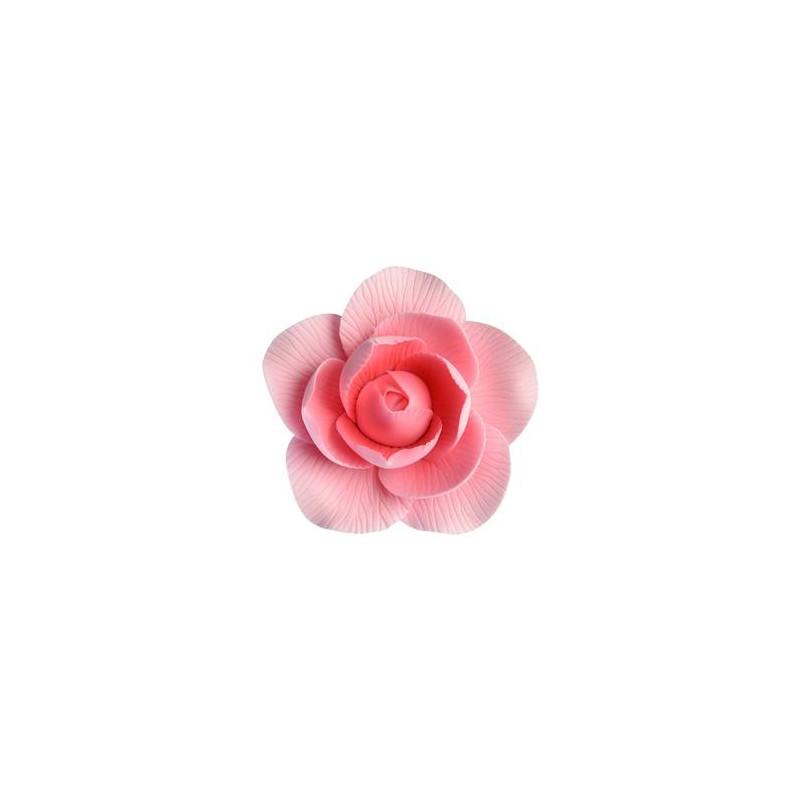 Fleur camélia rose 6 cm