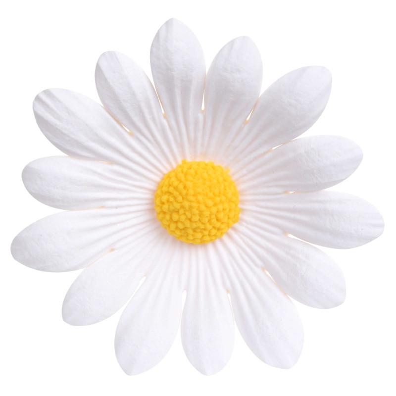 Fleur en sucre marguerite blanche 5 cm