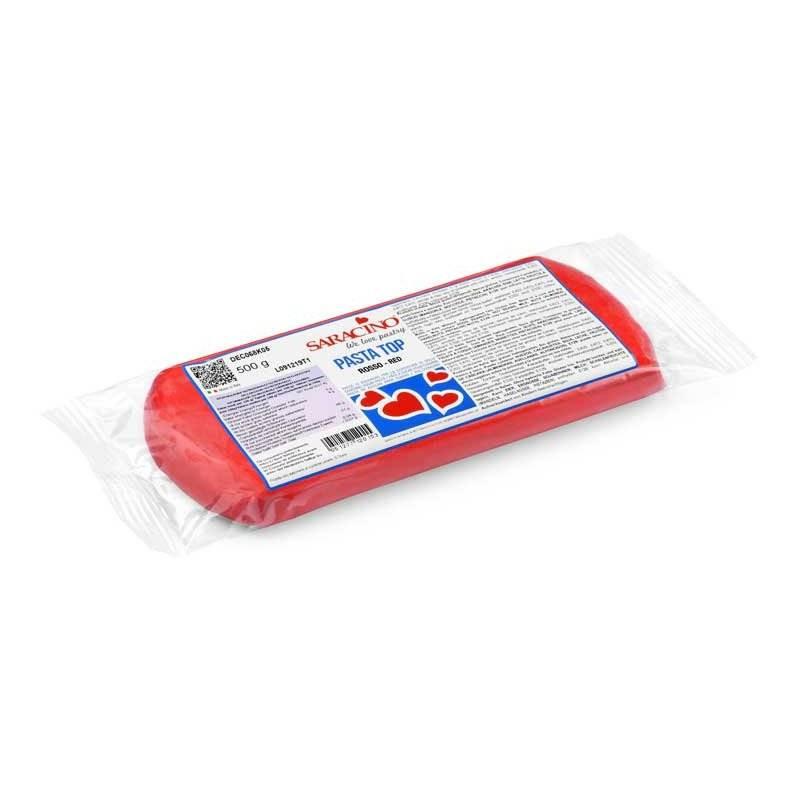 Pâte à sucre tropicale Pasta Top SARACINO 500g rouge