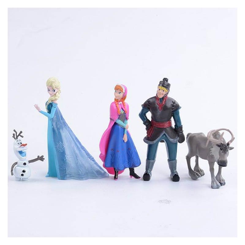 5 Snow Queen figurines