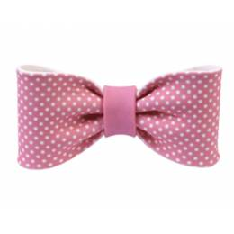 Pink sugar knot with polka dots 10 cm