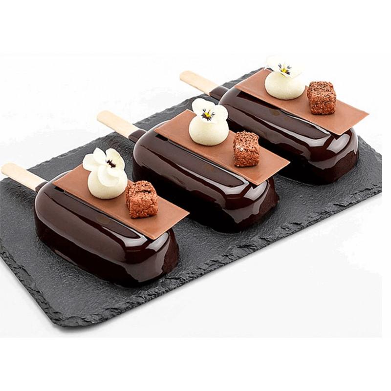 Moules silicone pour 4 glaces Popsicles et gâteaux sucettes