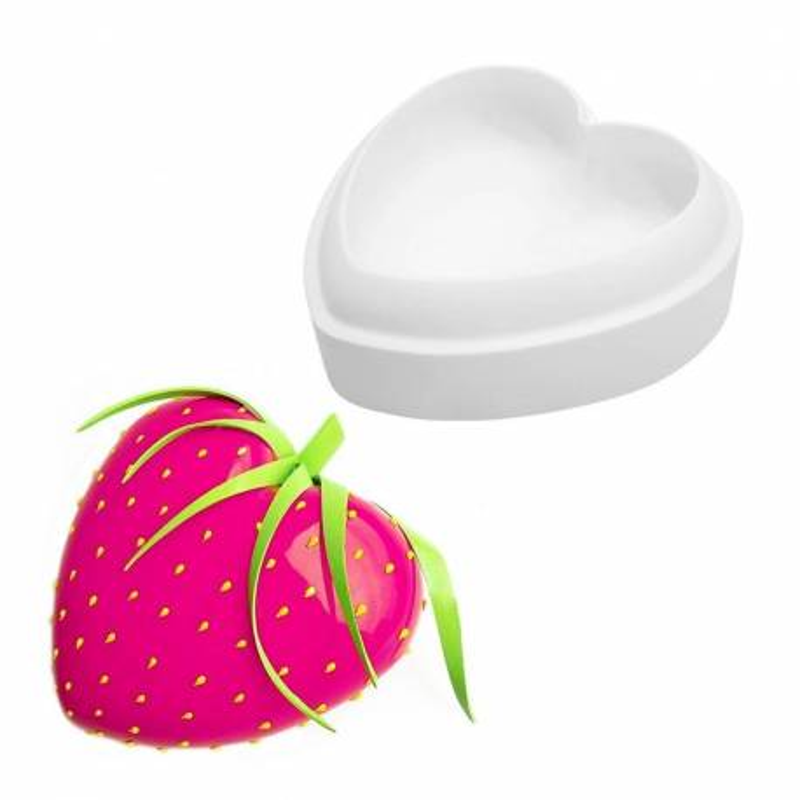 Molde de cocción Corazón de silicona 3D