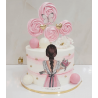 Edible printing Baby girl Princess and vintage ballerina