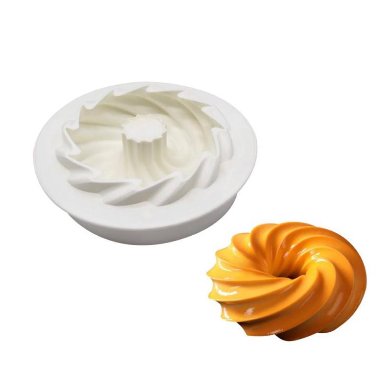 Moule à gâteau cercle torsadé troué silicone- 16cm