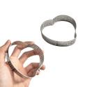 Cercle à tarte métal perforé forme coeur 8 cm