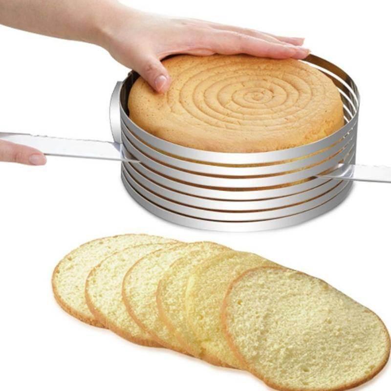 Cercle de coupe / découpe gâteau réglable et extensible