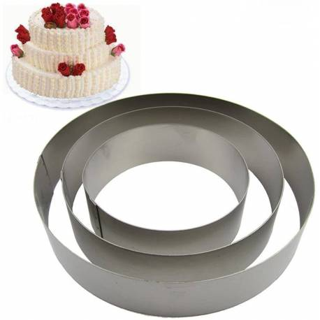 Set of 3 pastry circles 10, 15 and 20 cm