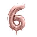 Ballon anniversaire chiffre or rose géant 81 cm