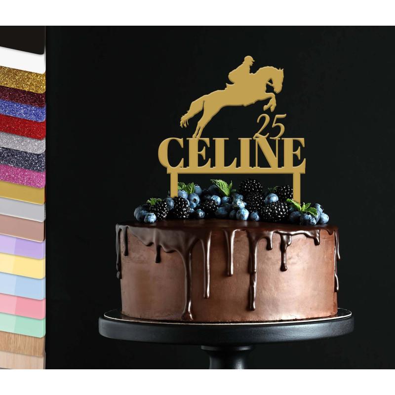 Topper personalized cake Horseback Riding
