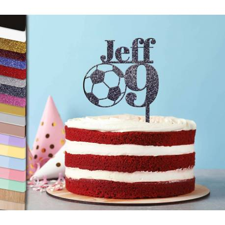 Topper personalized cake Football with age