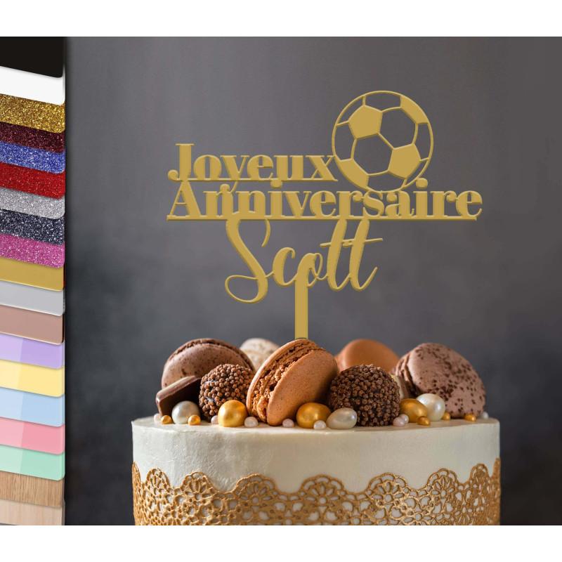 Topper tarta de cumpleaños de fútbol
