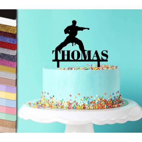 Topper personalized karate cake