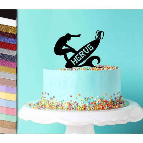 Topper surf Personalized Cake