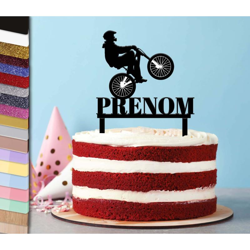 Topper pastel personalizado Vélo cyclisme