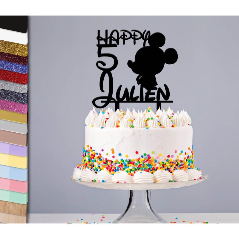 Topper el pastel personalizado de Mickey