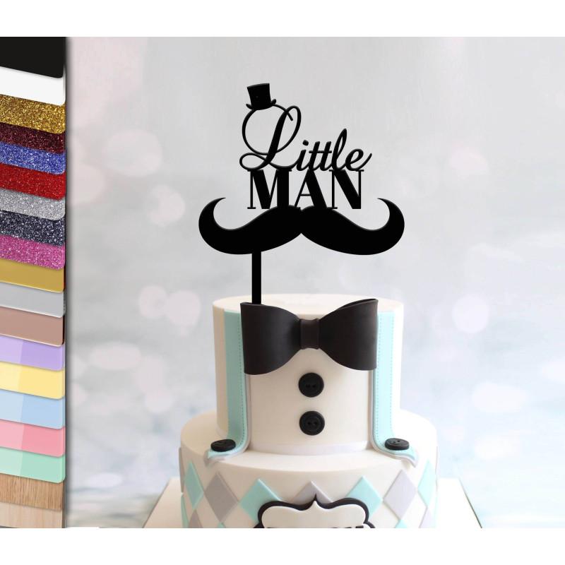 Topper pastel personalizado niño pequeño LITTLE MAN