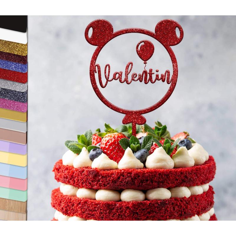 Topper pastel personalizado Globo de cumpleaños