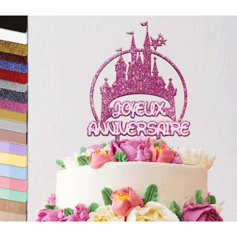 Topper personalized cake Disney Birthday Cake