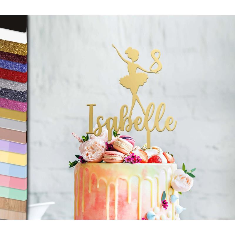 Topper personalized cake dancer tutu