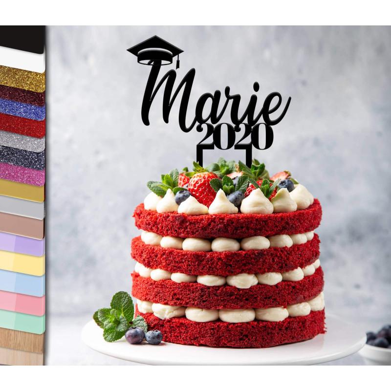 Topper pastel personalizado Graduado