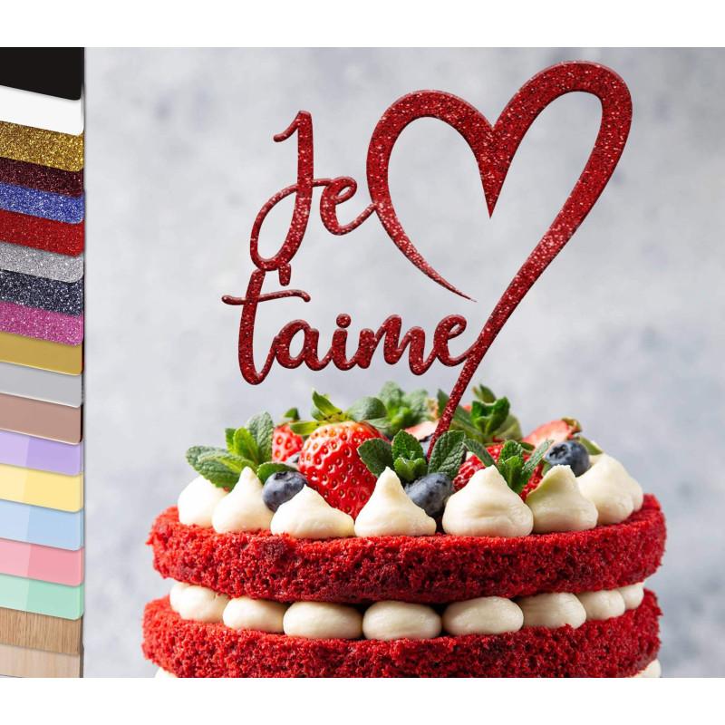 Topper pastel personalizado Te quiero
